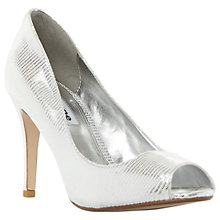 Buy Dune Dinaa Peep Toe Stiletto Heeled Sandals Online at johnlewis.com