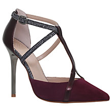 Buy KG by Kurt Geiger Bethy T-Bar Court Shoes, Wine Online at johnlewis.com