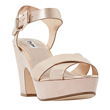 Buy Dune Iyla Block Heeled Cross Strap Platform Sandals Online at johnlewis.com