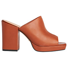 Buy Whistles Florio Mule Block Heeled Sandals, Tan Online at johnlewis.com
