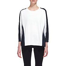 Buy Whistles Colour Block Relaxed Sweatshirt, Blue/White Online at johnlewis.com