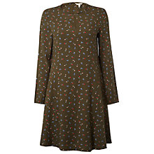 Buy White Stuff Fan Flower Swing Dress, Hawthorn Green Online at johnlewis.com