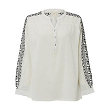 Buy White Stuff Embroidered Poet Shirt, Cream Online at johnlewis.com