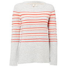 Buy White Stuff Narrator Stripe Jumper, Grey Online at johnlewis.com