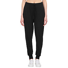 Buy Whistles Relaxed Slub Joggers, Black Online at johnlewis.com