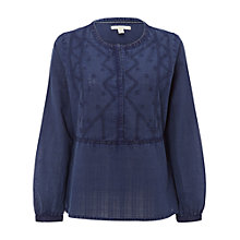 Buy White Stuff Indigo Hues Top, Ink Pot Blue Online at johnlewis.com