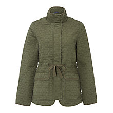 Buy White Stuff Indus Quilted Jacket, Khaki Online at johnlewis.com