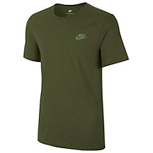 Buy Nike Sportswear Cotton T-Shirt, Green Online at johnlewis.com