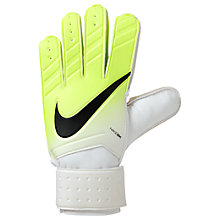 Buy Nike Match Goalkeeper Football Gloves, White/Volt Online at johnlewis.com