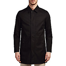 Buy HUGO by Hugo Boss C-Makti Shirt Collar Overcoat, Black Online at johnlewis.com