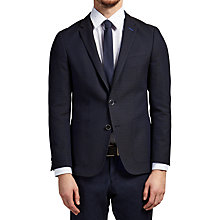 Buy HUGO by Hugo Boss C-Hamilton Finely Patterned Slim Fit Blazer, Bright Blue Online at johnlewis.com