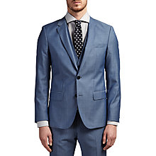 Buy HUGO by Hugo Boss C-Huge/Genius Virgin Wool Three Piece Suit, Turquoise Aqua Online at johnlewis.com