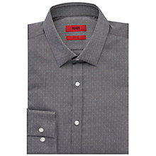Buy HUGO by Hugo Boss C-Jero Slim Fit Oxford Dobby Shirt, Black Online at johnlewis.com