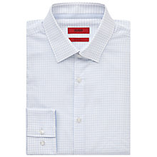 Buy HUGO by Hugo Boss C-Joey Grid Check Slim Fit Shirt, Light/Pastel Blue Online at johnlewis.com