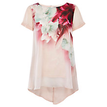 Buy Coast Orlando Print Top, Blush Online at johnlewis.com