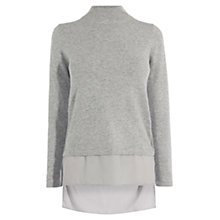 Buy Coast Ruperto Knit Top, Grey Online at johnlewis.com