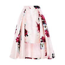 Buy Coast Toulouse Printed Skirt, Blush Online at johnlewis.com