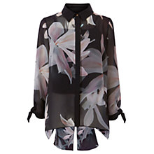 Buy Coast Rosario Print Blouse, Black Online at johnlewis.com