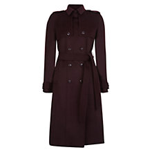 Buy Hobbs Callaghan Trench Coat, Burgundy Online at johnlewis.com