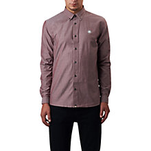 Buy Pretty Green Oldbury Oxford Shirt, Burgundy Online at johnlewis.com