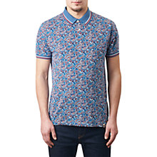 Buy Pretty Green Camley Paisley Print Polo Shirt, Blue Online at johnlewis.com