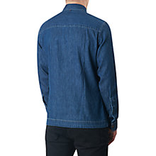 Buy Pretty Green Blagrave Denim Shirt, Mid Blue Online at johnlewis.com