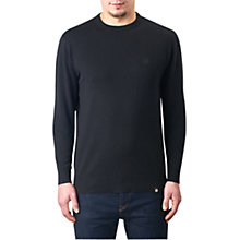 Buy Pretty Green Mandeville Crew Neck Jumper, Black Online at johnlewis.com