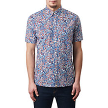 Buy Pretty Green Short Sleeve Camley Paisley Shirt, Blue Online at johnlewis.com