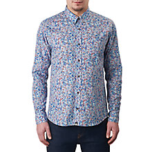 Buy Pretty Green Wilby Slim Fit Rainbow Print Shirt, Mid Blue Online at johnlewis.com