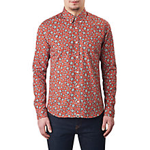 Buy Pretty Green Wynne Slim Fit Floral Print Shirt, Dark Red Online at johnlewis.com