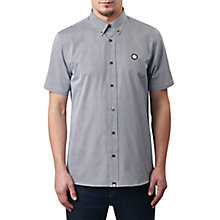 Buy Pretty Green Short Sleeve Glendale Gingham Shirt, Navy Online at johnlewis.com