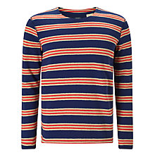 Buy Levi's Made & Crafted  Multi Stripe Long Sleeve T-Shirt, Navy/Red Online at johnlewis.com