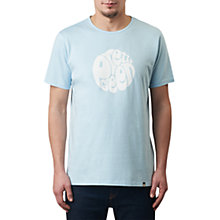 Buy Pretty Green Eastfields Logo T-Shirt, Sky Blue Online at johnlewis.com