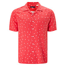 Buy Levi's Made & Crafted Floral Cotton Linen Riviera Shirt, Ditzy Red Online at johnlewis.com
