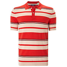 Buy Levi's Made & Crafted Stripe Sweater Polo Shirt, Red Online at johnlewis.com
