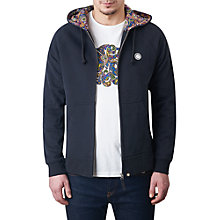 Buy Pretty Green Raynham Paisley-Lined Hoodie, Black Online at johnlewis.com