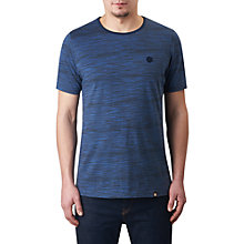 Buy Pretty Green Rosebank Space Dye T-Shirt, Navy Online at johnlewis.com