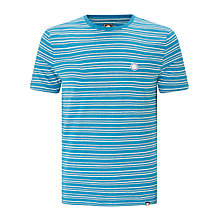 Buy Pretty Green Elderslie Cotton Linen T-Shirt, Navy Online at johnlewis.com