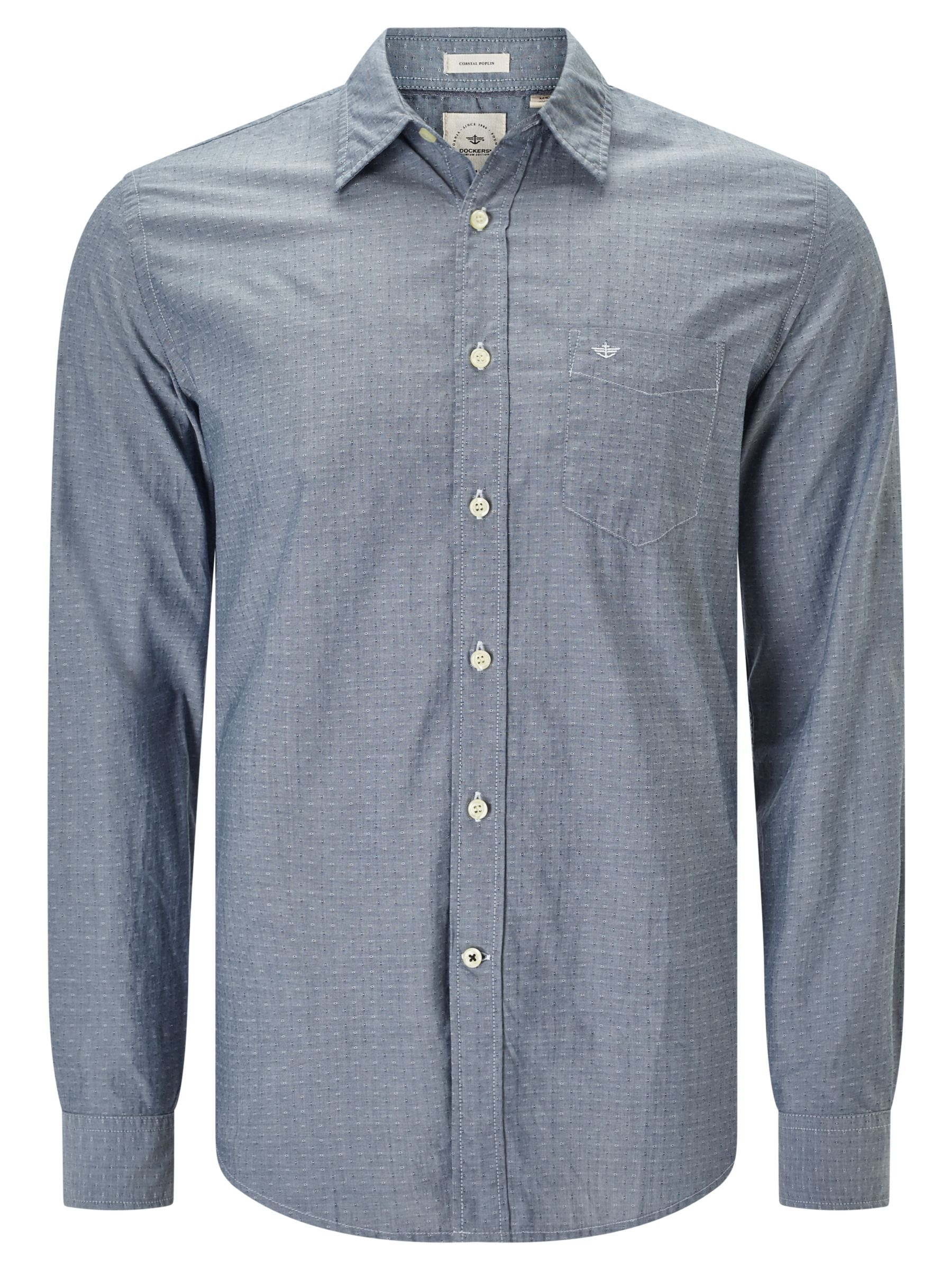 Dockers Dockers Laundered Poplin Cotton Shirt, Huff Moonlit Ocean
