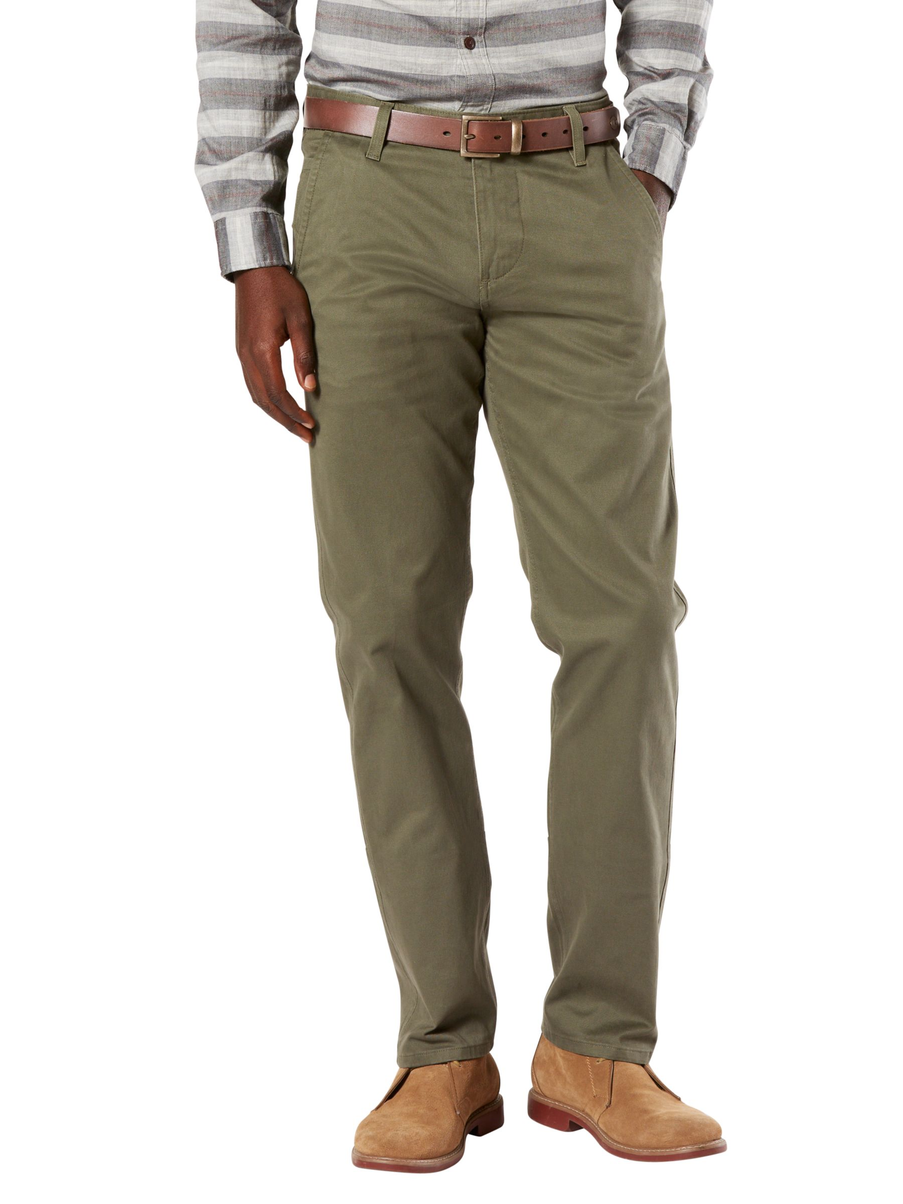 Dockers Dockers Alpha Stretch Slim Tapered Chinos, Olive