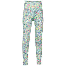 Buy Fat Face Girls' Floral Print and Plain Leggings, Pack of 2, Soft Green/Blue Online at johnlewis.com