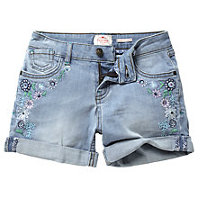 Buy Fat Face Girls' Devon Denim Shorts, Blue Online at johnlewis.com