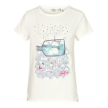 Buy Fat Face Short Sleeve Whale Of A Time T-Shirt, Ecru Online at johnlewis.com