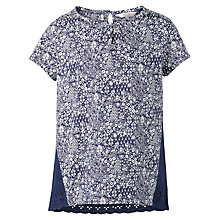 Buy Fat Face Girls' Cluster Mixed Print T-Shirt, Navy Online at johnlewis.com
