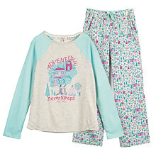 Buy Fat Face Children's Cabin Pyjamas, Oatmeal/Multi Online at johnlewis.com