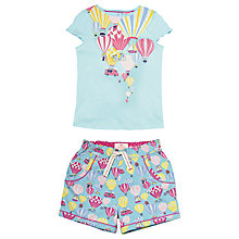 Buy Fat Face Children's Balloon Shortie Pyjamas, Aqua Online at johnlewis.com