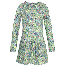 Buy Fat Face Girls' Floral Print Tunic Dress, Soft Green Online at johnlewis.com