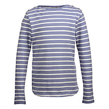 Buy Fat Face Girls' Breton Stripe Long Sleeved T-Shirt Online at johnlewis.com