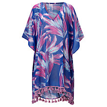 Buy Riko by Coco Riko Feather Fan Print Short Kaftan, Pink/Purple Online at johnlewis.com
