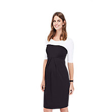 Buy Isabella Oliver Laela Contrast Maternity Dress, Black/White Online at johnlewis.com